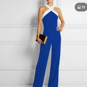 Royal blue and white jumpsuit